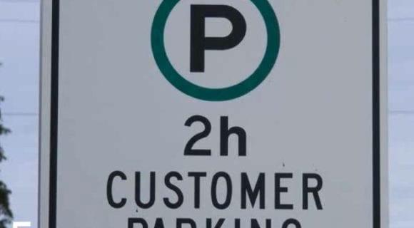 2h customer parking sign