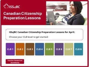 April Canadian Citizenship Preparation Lessons