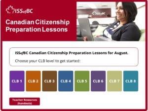 August Canadian Citizenship Preparation Lessons