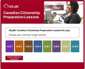 July Canadian Citizenship Preparation Lessons