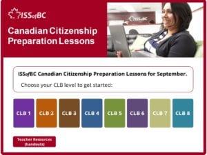 September Canadian Citizenship Preparation Lessons