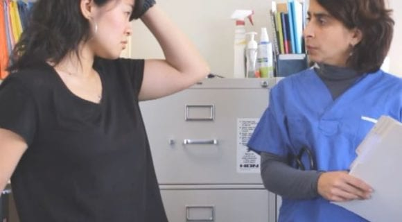 Talking about Pain in Doctor's Office